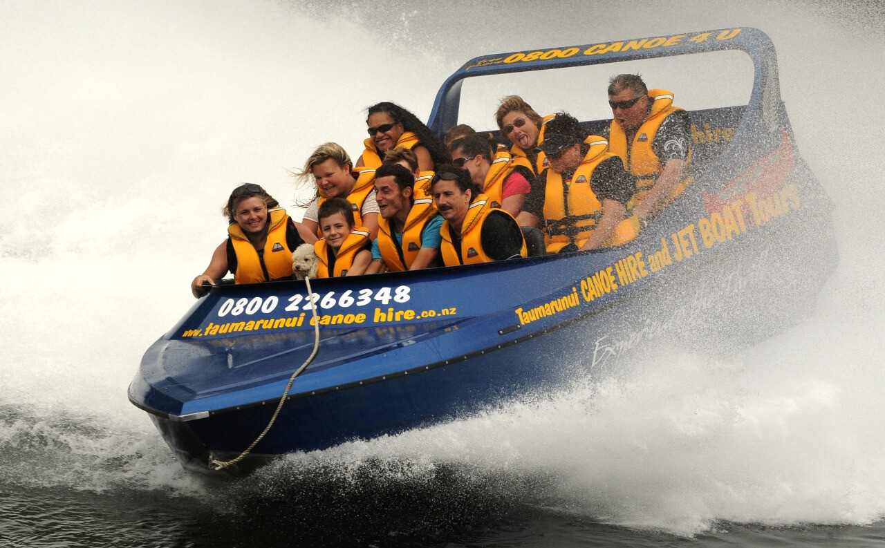 Jet boating on the Whanganui River