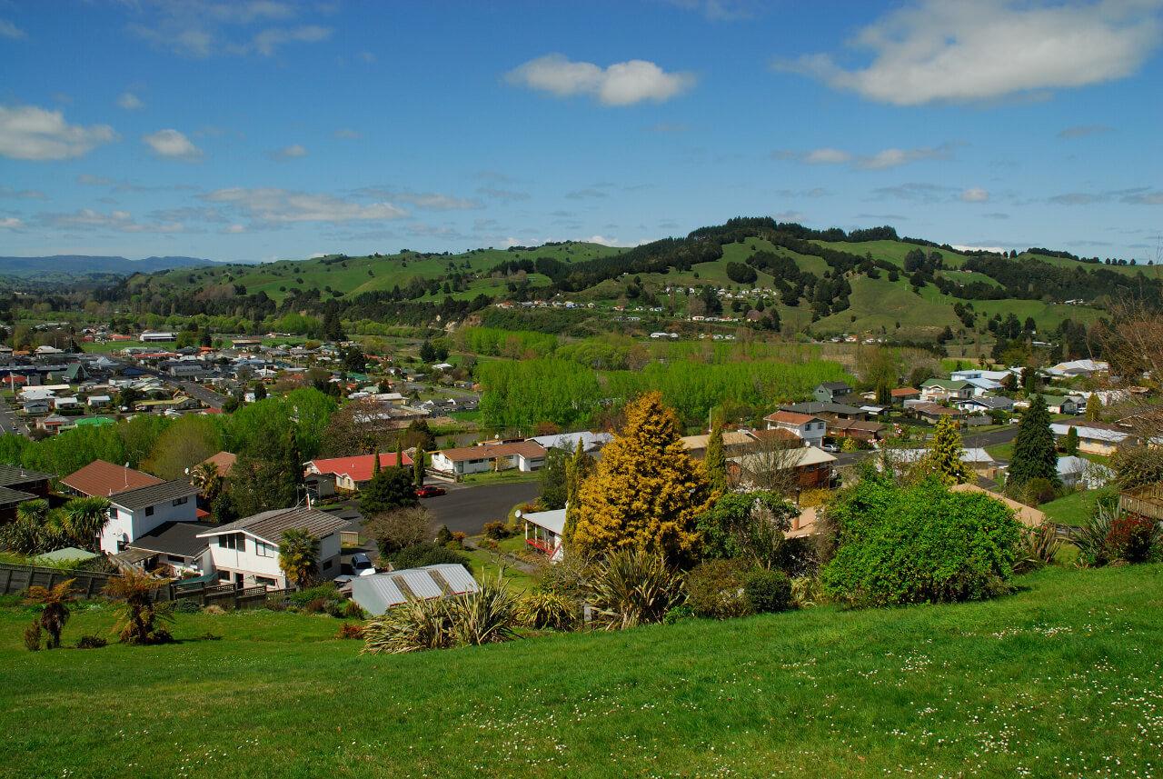 Taumarunui from Te Peka Lookout
